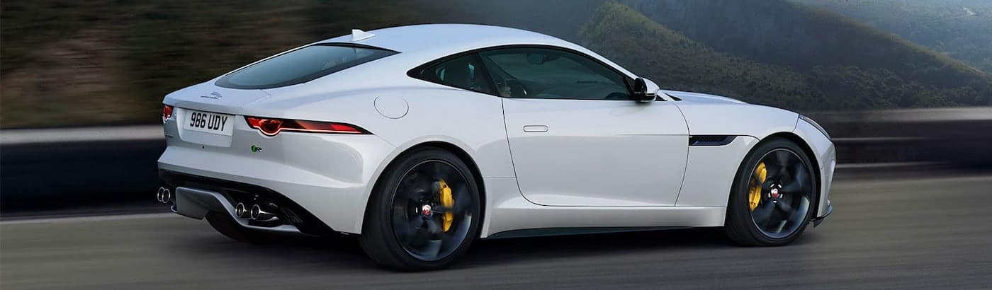 2020 jaguar f-type white on road
