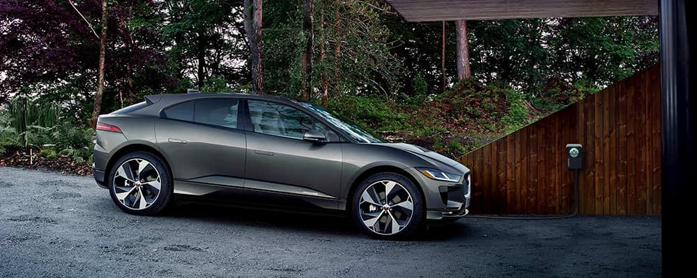 grey i-pace in drive way