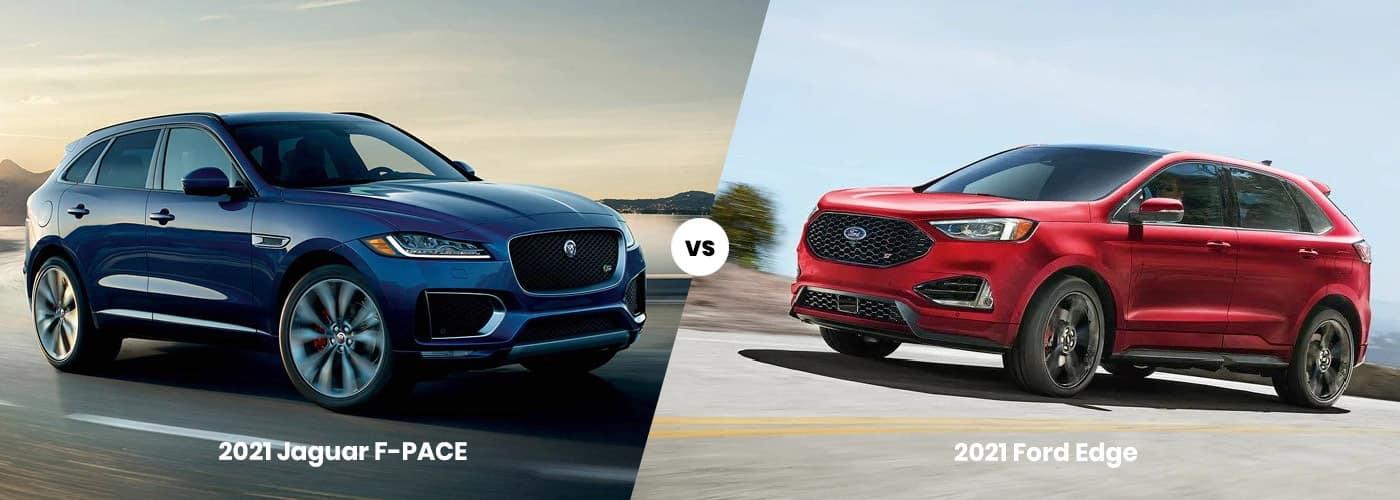 2021 jaguar f pace vs ford edge