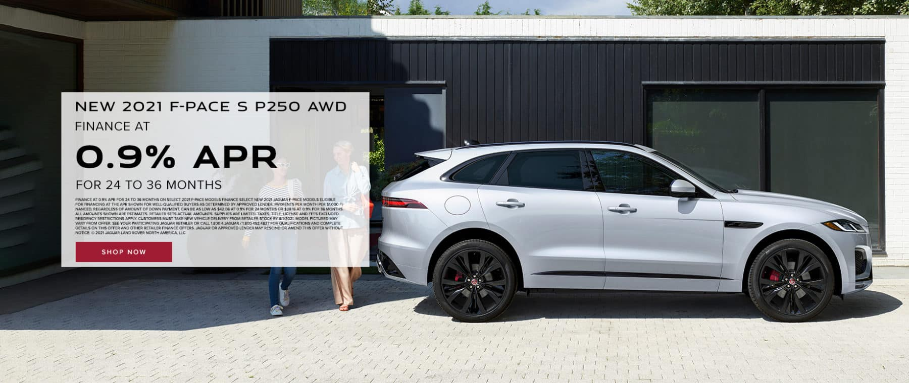 NEW 2021 F-PACE S P250 AWD Finance at 0.9% for 24 to 36 months