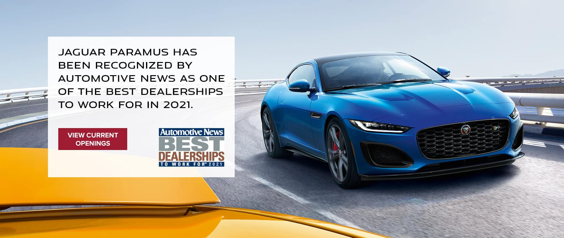 Jaguar Paramus has been recognized by Automotive News as one of the Best Dealerships to Work For in 2021.