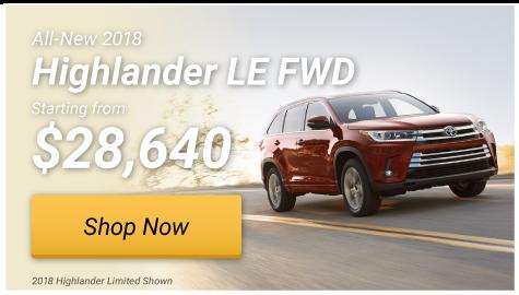 Highlander LE FWD Special