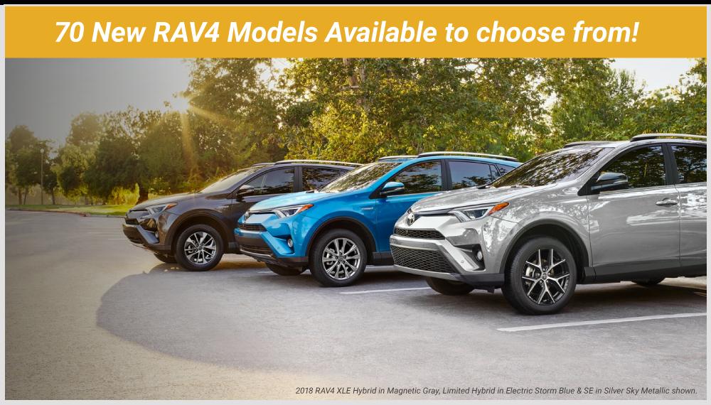 70 RAV4 Models Available