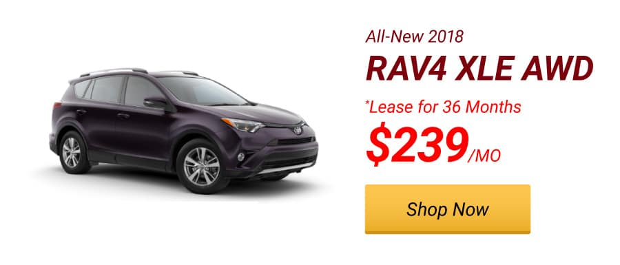 New 2018 RAV4 XLE AWD