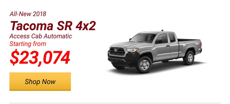 New 2018 Tacoma SR 4x2