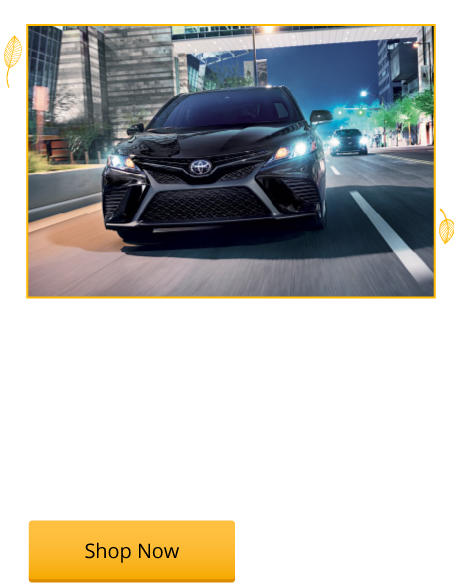 New 2018 Camry SE Starting from $23,476