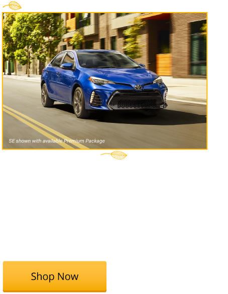 New 2018 Corolla LE Starting from $18,179
