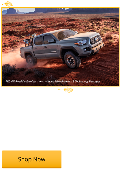 New 2018 Tacoma SR 4x2 Starting from $22,573