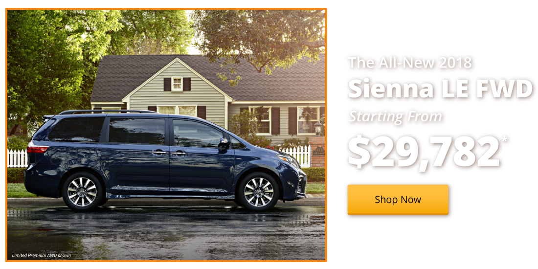 New 2018 Sienna LE FWD starting from $29,782