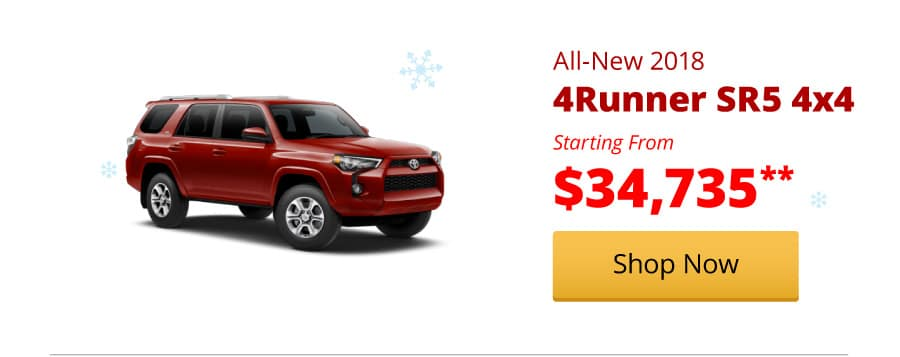 All-New 2018 4Runner SR5 4x4 starting from $34,735