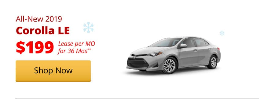 All-New 2019 Corolla LE lease for $199/MO