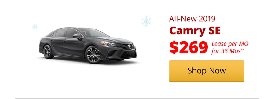 All-New 2019 Camry SE lease for $269/MO