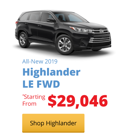 All-New 2019 Highlander LE FWD