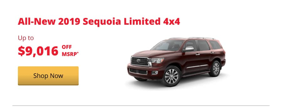 All-New 2019 Sequoia Limited 4x4 up to $9,016 off MSRP