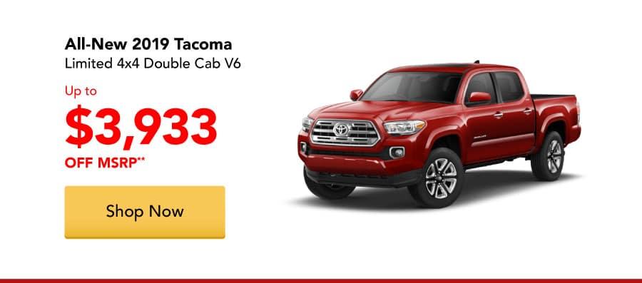 All-New 2019 Tacoma Limited 4x4 Double Cab V6