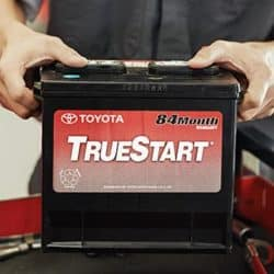 Replace your vehicle's battery for a starting price of $110.00 at Jay Wolfe Toyota.
