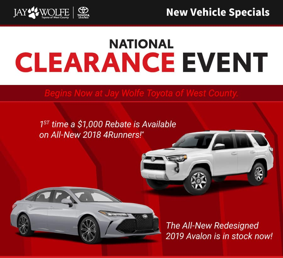 National Clearance Event Begins Now!