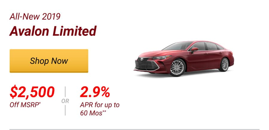 New 2019 Avalon Limited Special Offer