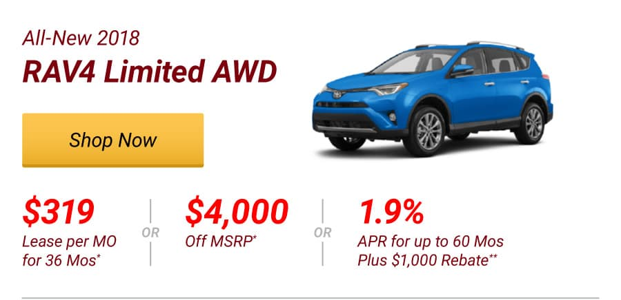 All-New 2018 RAV4 Limited AWD Special Offer