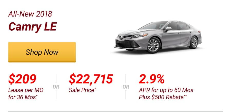 All-New 2018 Camry LE Special Offer