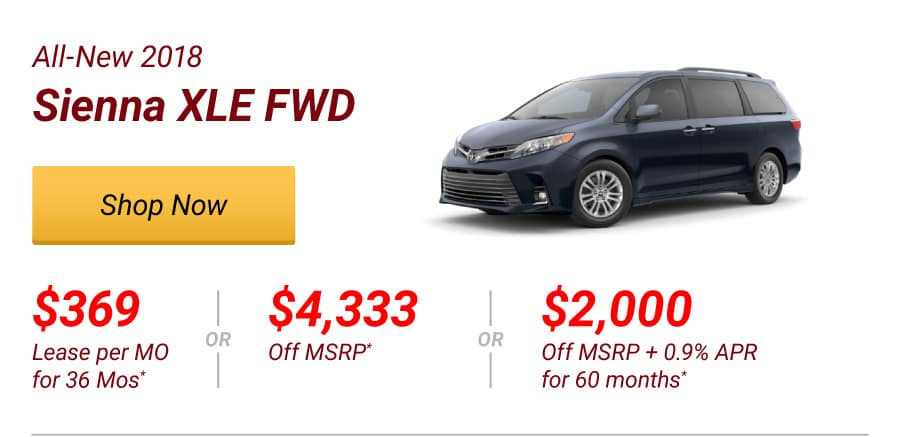 All-New 2018 Sienna XLE FWD Special Offer