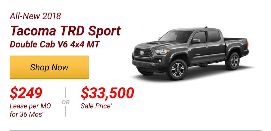 All-New 2018 Tacoma TRD Sport Double Cab Special