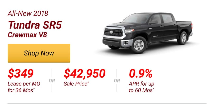 All-New 2018 Tundra SR5 Crewmax Special Offer