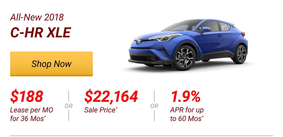 All-New 2018 C-HR XLE Special Offer