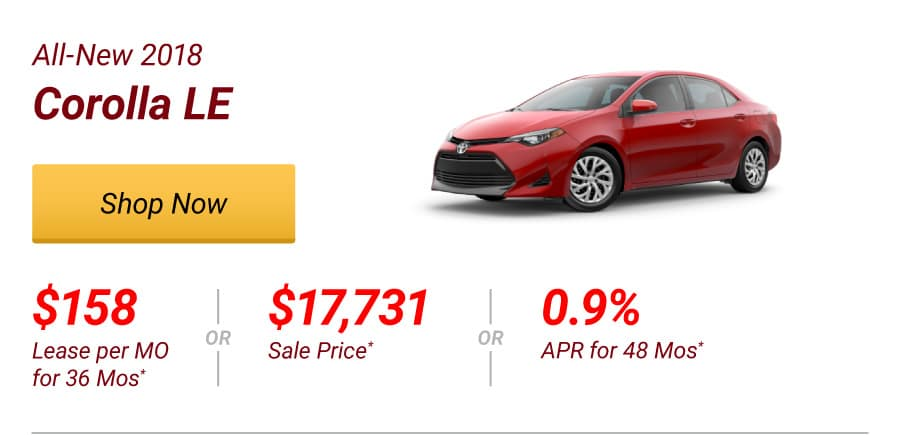 All-New 2018 Corolla LE Special Offer
