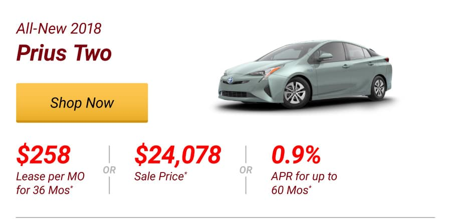 All-New 2018 Prius Two Special Offer