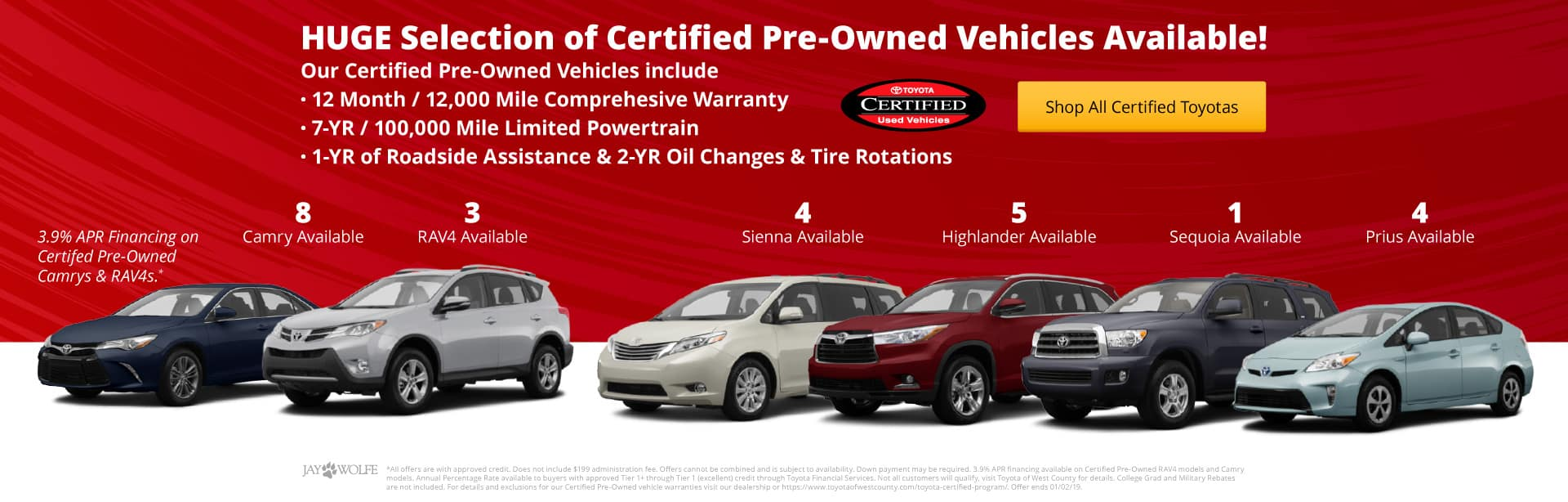 Toyota of West County's Certified Pre-Owned Inventory