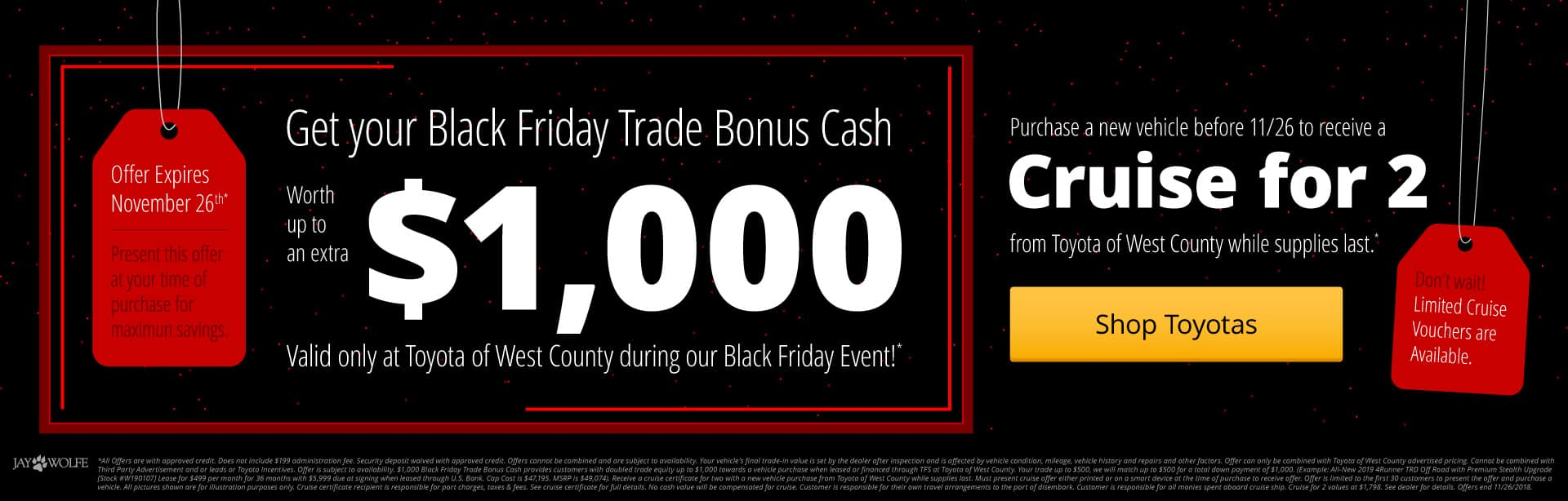 It's Black Friday at Toyota of West County!
