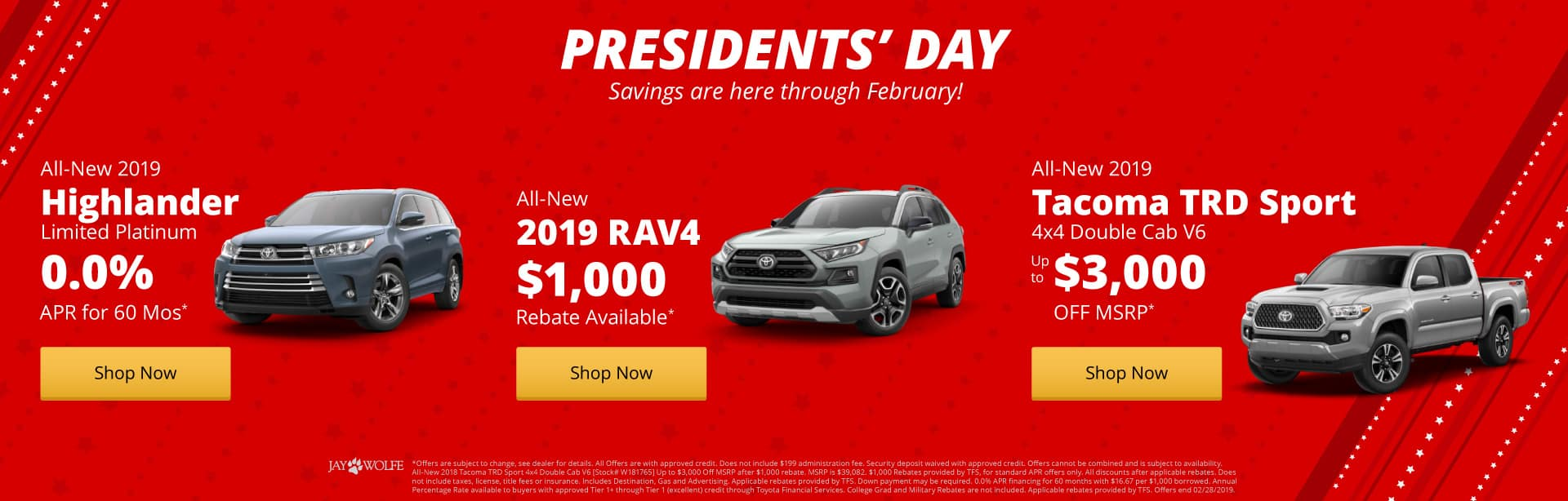 Presidents Day Savings are here!