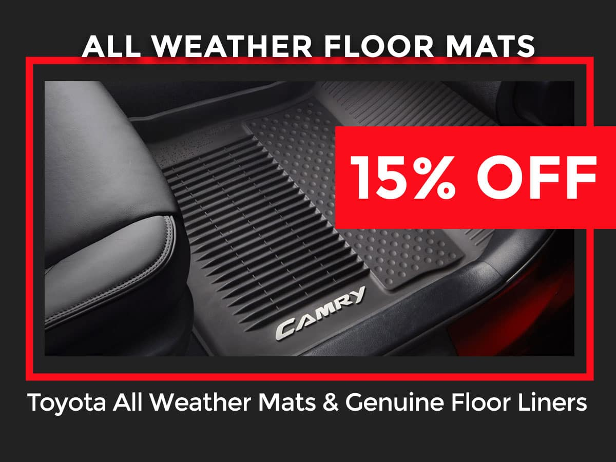 Toyota All Weather Mat Coupon