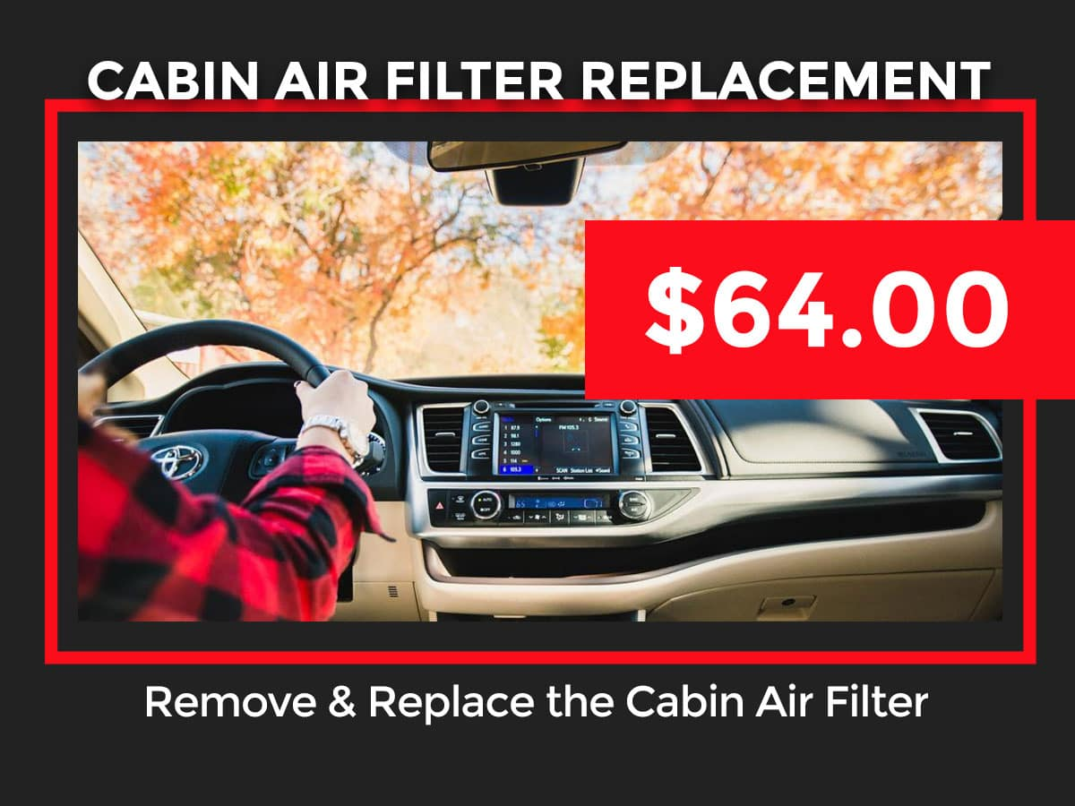 Toyota Cabin Air Filter Replacement