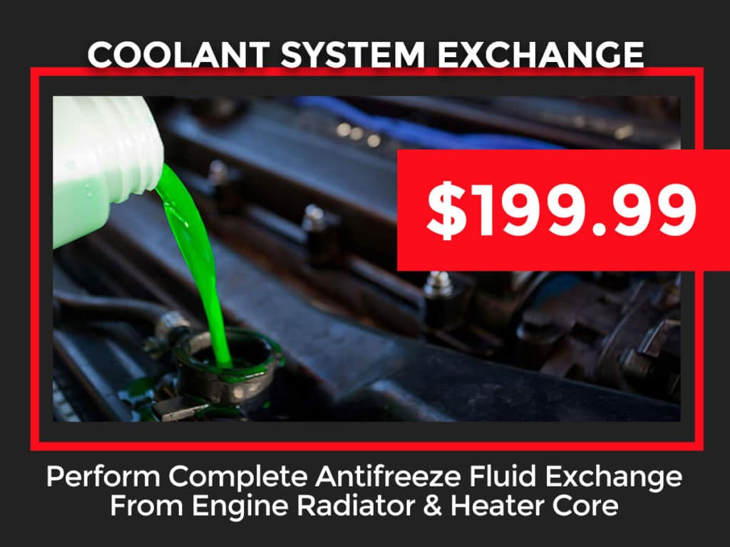 Toyota Coolant System Exchange