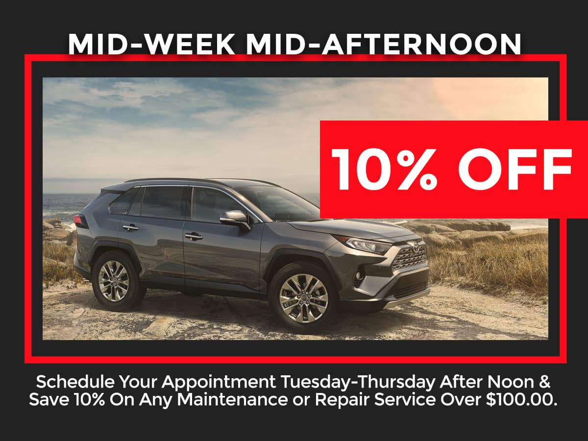 Toyota Midweek Service Special Coupon