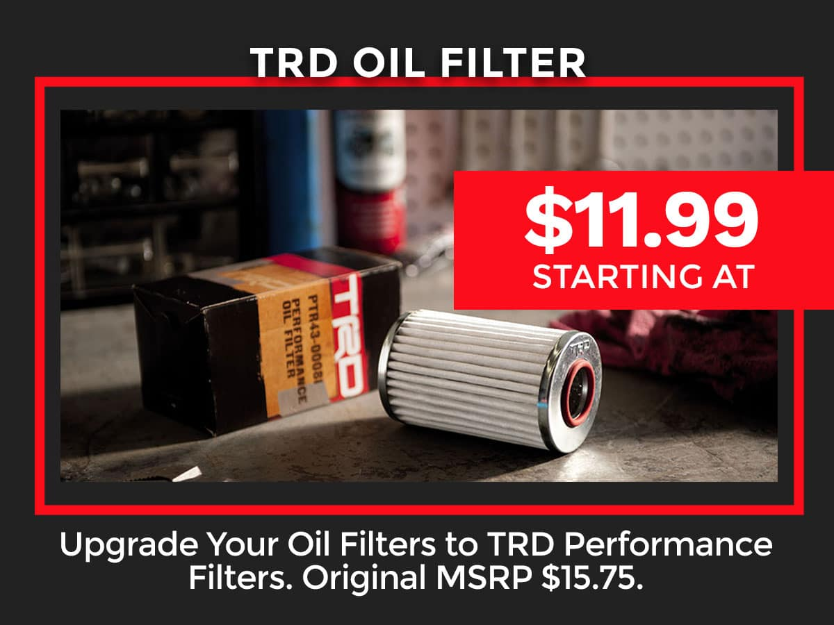 Toyota TRD Oil Filter Coupon