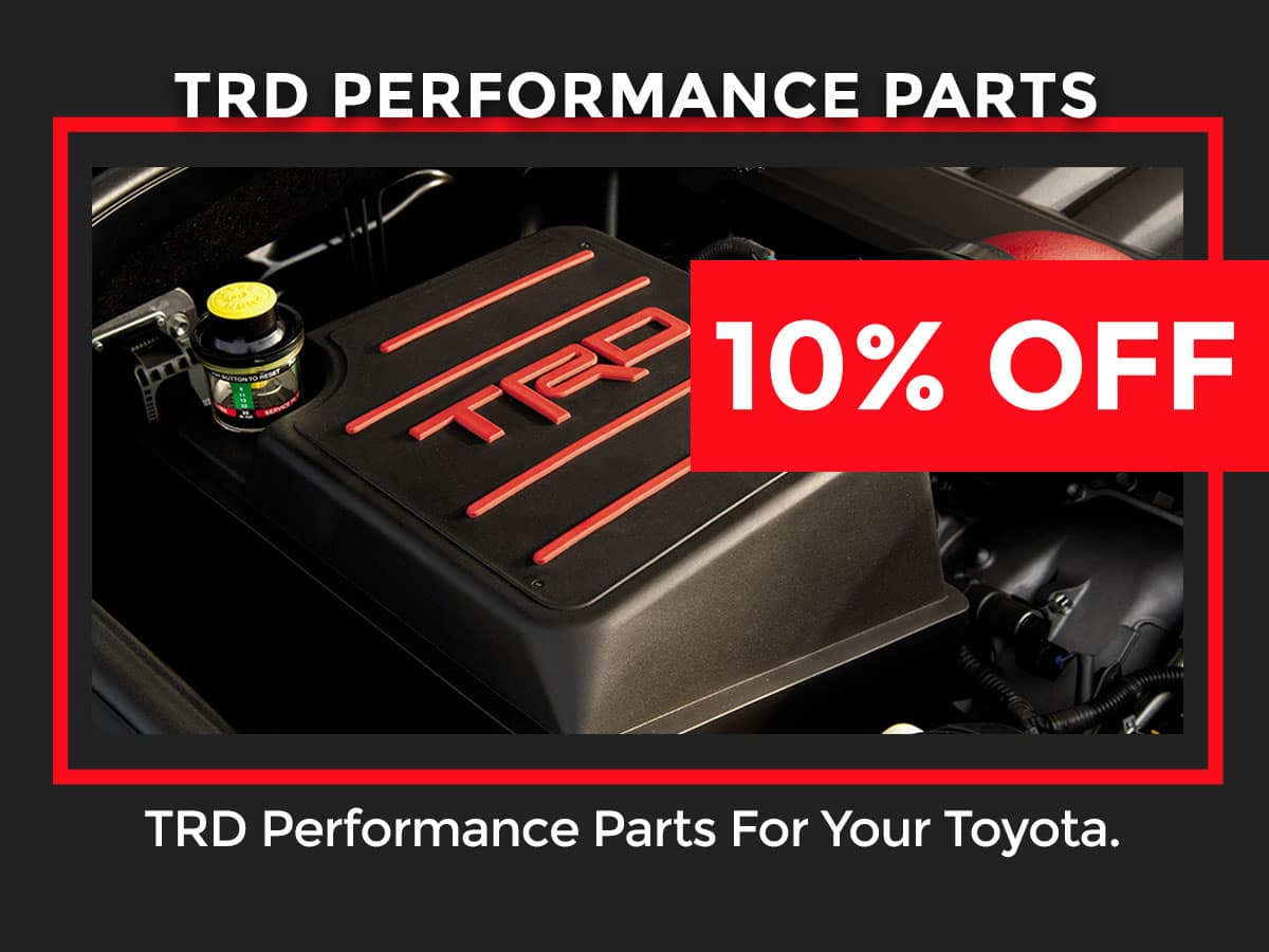 Toyota TRD Performance Parts Coupon