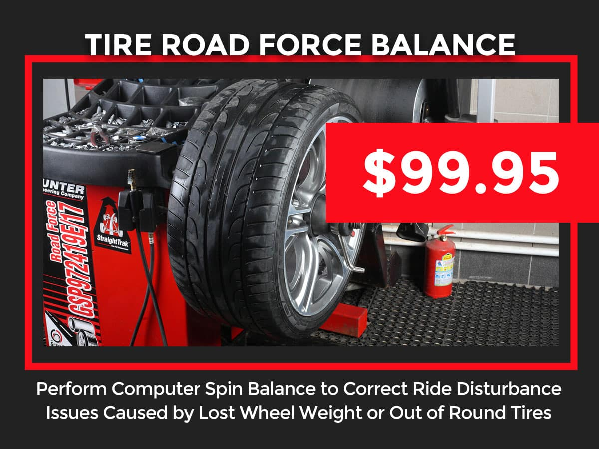 Toyota Tire Road Force Balance Coupon