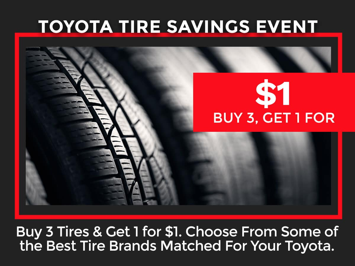 Toyota Tire Savings Event Coupon