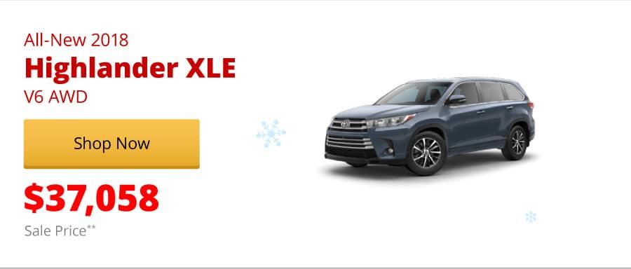 All-New 2018 Highlander XLE V6 AWD