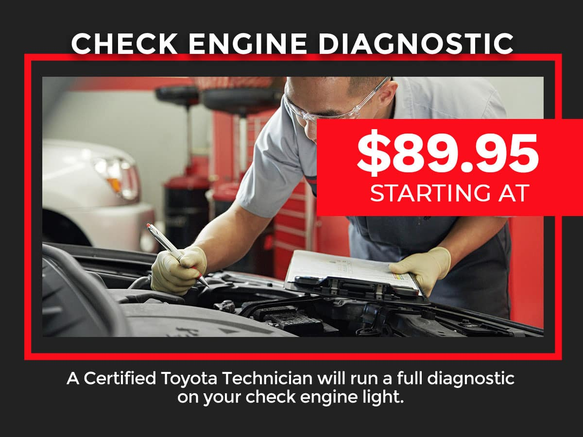 Toyota Check Engine Light Diagnostic Coupon