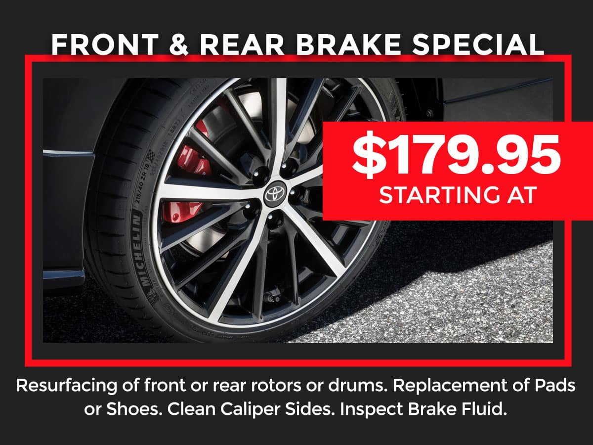 Toyota Front & Rear Brake Special