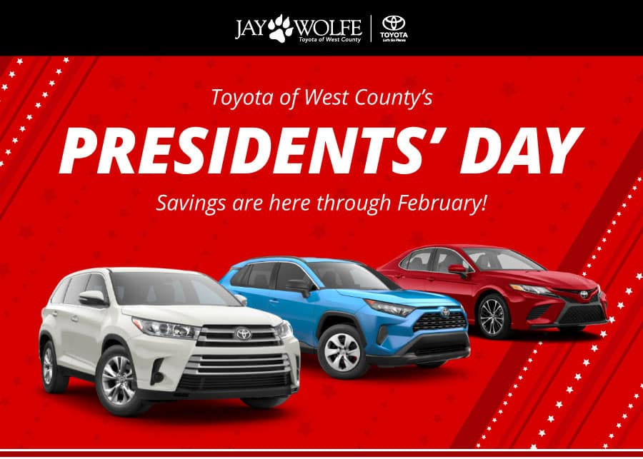 Presidents' Day Savings are here through February