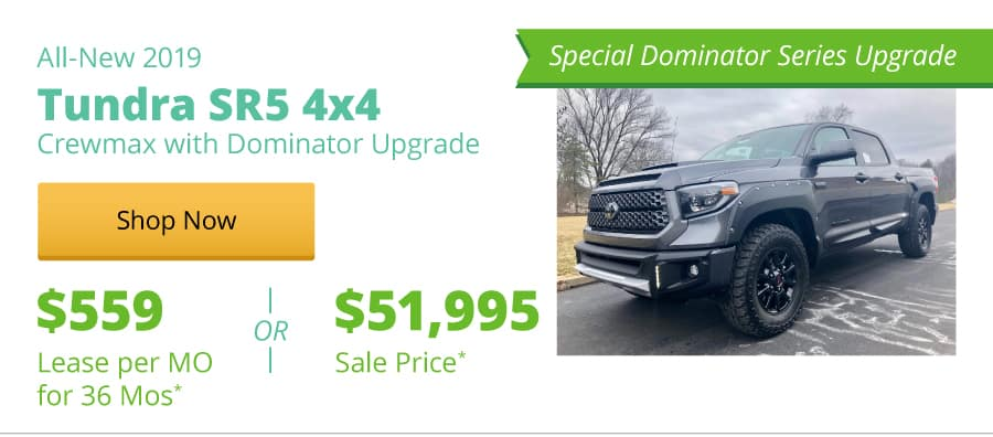 All-New 2019 Tundra SR5 4x4 Crewmax with Dominator Upgrade