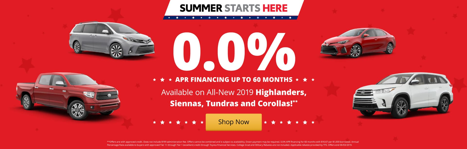 0% APR financing available on select Toyotas