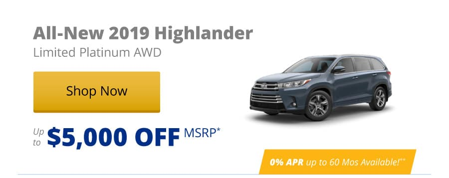 All-New 2019 Highlander Limited Platinum