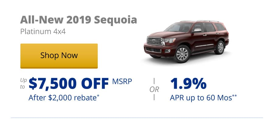 All-New 2019 Sequoia Platinum 4x4