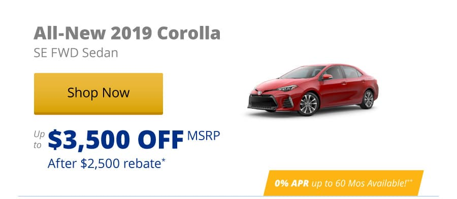 All-New 2019 Corolla SE FWD